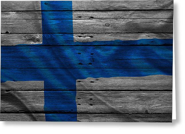 Continent Greeting Cards - Finland Greeting Card by Joe Hamilton