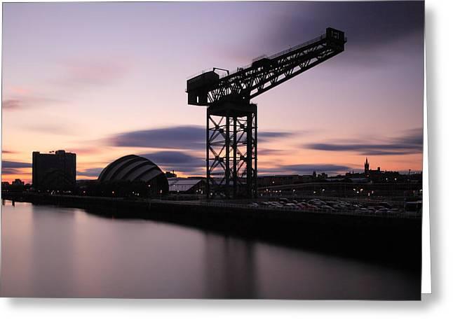Scottish Scenic Greeting Cards - Finnieston crane Glasgow  Greeting Card by Grant Glendinning