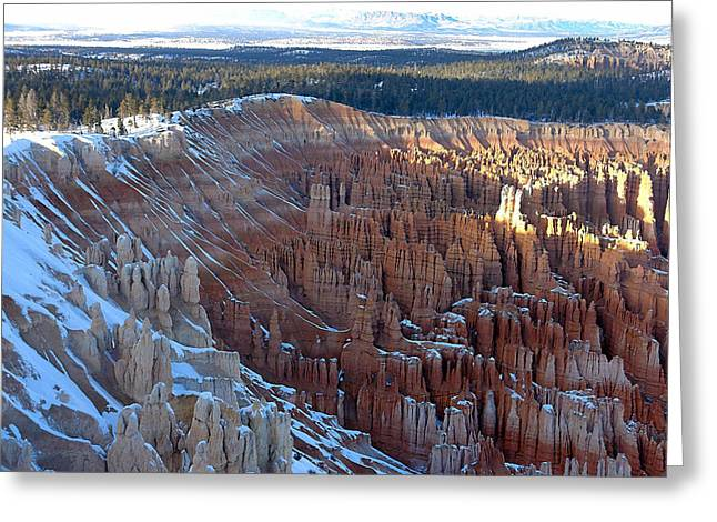 Sunset Greeting Cards Greeting Cards - Fins and Pinnacles Greeting Card by Roger Burkart