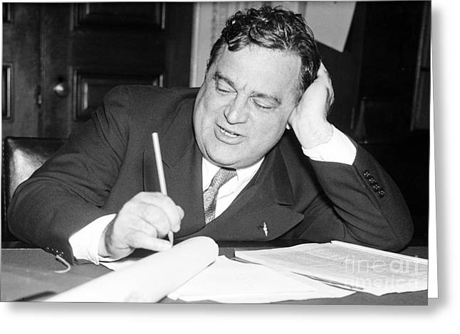 Republican Greeting Cards - Fiorello La Guardia, American Politician Greeting Card by Science Source