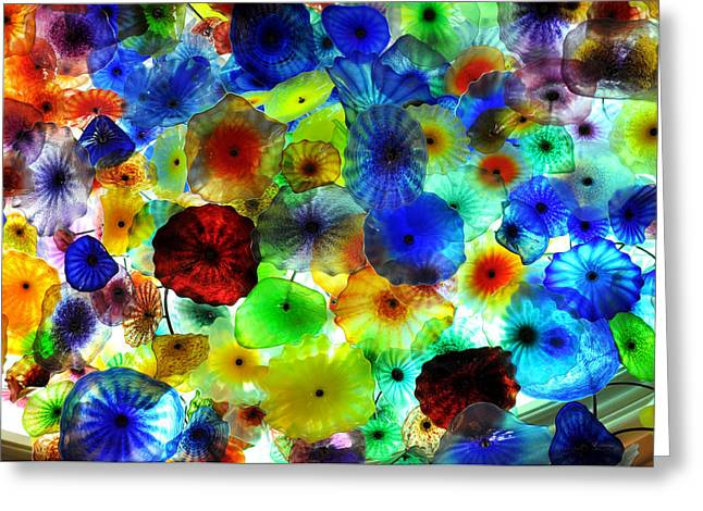Gandz Photography Greeting Cards - Fiori di Como by glass sculptor Greeting Card by Gandz Photography