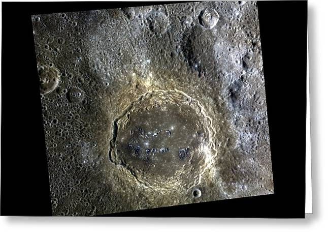Firdousi Crater Greeting Card by Nasa/johns Hopkins University Applied Physics Laboratory/carnegie Institution Of Washington