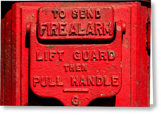 Fireman Posters Greeting Cards - Fire Alarm In New York City Greeting Card by Xavier Cardell