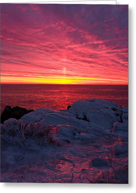 Fire And Ice Greeting Card by Benjamin Williamson