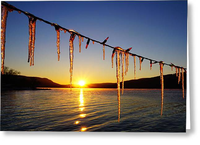 Keuka Greeting Cards - Fire and Ice Greeting Card by Bob Magee