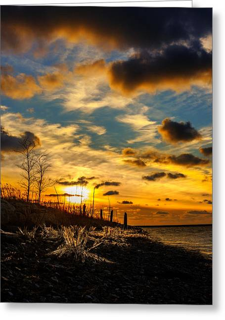 Golden Bell Greeting Cards - Fire and Ice Greeting Card by Chris Bordeleau