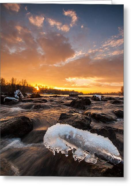 Beautiful Landscape Photography Greeting Cards - Fire and Ice Greeting Card by Davorin Mance