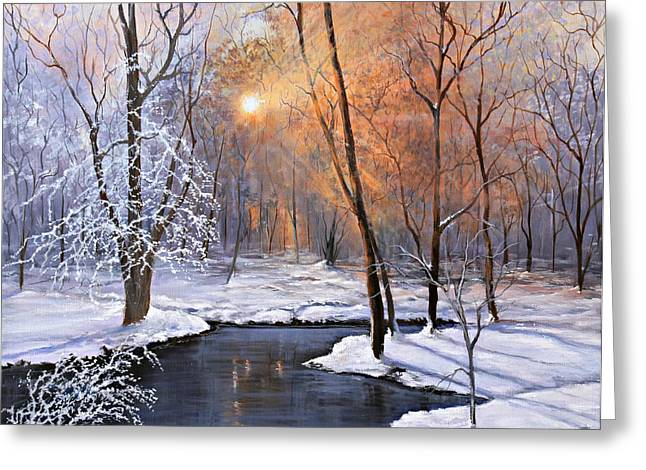 Fire And Ice Greeting Card by Julie Townsend