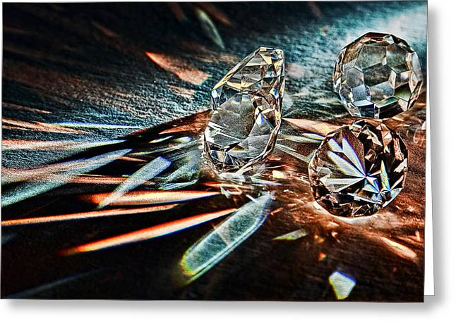 Glittery Jewelry Greeting Cards - Fire and Ice Greeting Card by Marcia Colelli