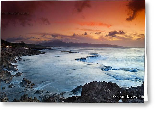 Sunset Framed Prints Greeting Cards - Fire and ice Greeting Card by Sean Davey