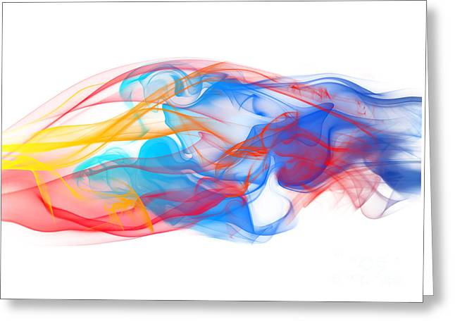 Hypnotic Abstract Greeting Cards - Fire and Ice Smoke II Greeting Card by Jt PhotoDesign