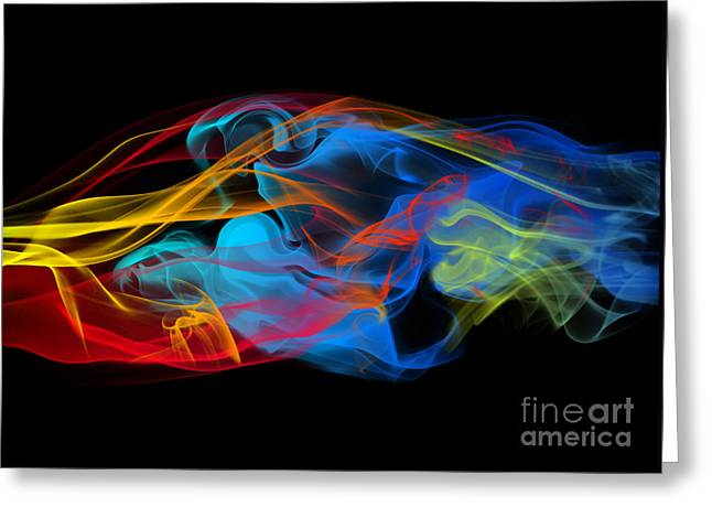 Hypnotic Abstract Greeting Cards - Fire and Ice Smoke  Greeting Card by Jt PhotoDesign