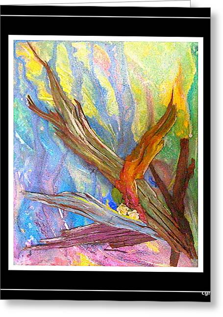 Fire Reliefs Greeting Cards - Fire And Rebirth Greeting Card by Charles  Gresalfi