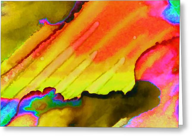 Biological Mixed Media Greeting Cards - Fire And Water II Greeting Card by Rory Sagner