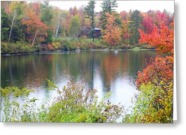 Fallscape Greeting Cards - Fire and Water Greeting Card by Sandra J Isherwood