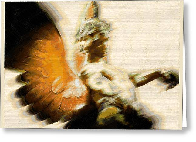 Pensive Mixed Media Greeting Cards - Fire Angel Greeting Card by Tony Rubino