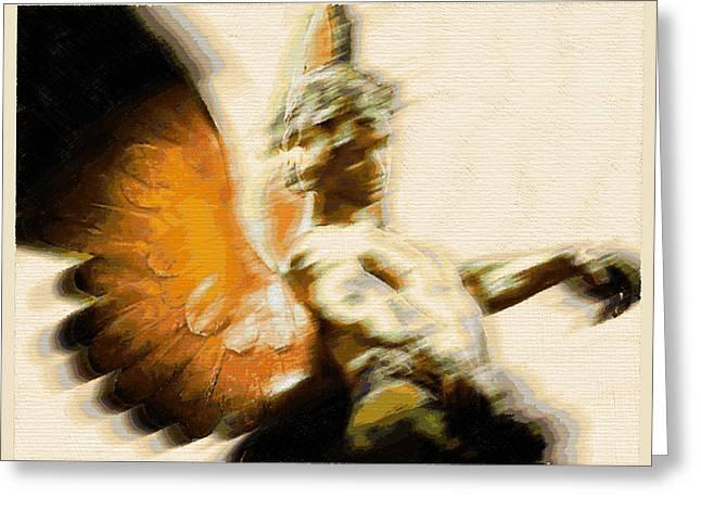 Bible Mixed Media Greeting Cards - Fire Angel Greeting Card by Tony Rubino
