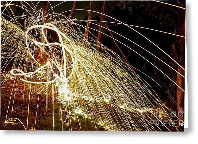 Go Pro Greeting Cards - Fire Greeting Card by Angus Gunn