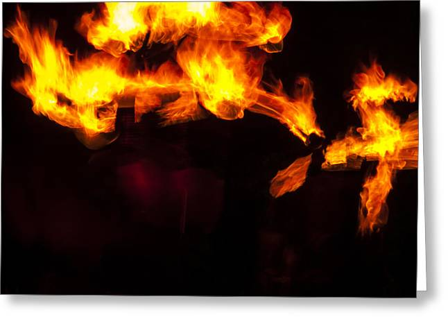 Fire Greeting Cards - Fire Animals Greeting Card by Mandy Judson