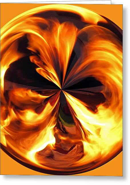 Firepit Greeting Cards - Fire Ball Greeting Card by Roger Reeves  and Terrie Heslop