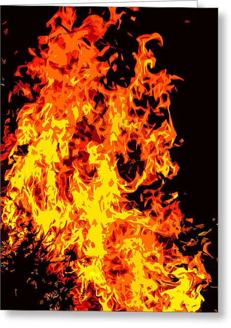Fire Greeting Card by Brian Stevens