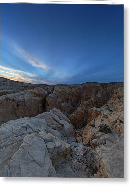 Layer Greeting Cards - Fire Canyon Afterglow Greeting Card by Rick Berk