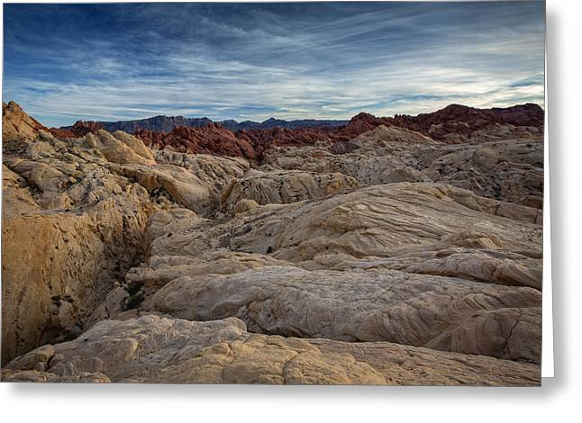 Nevada State Park Greeting Cards - Fire Canyon II Greeting Card by Rick Berk