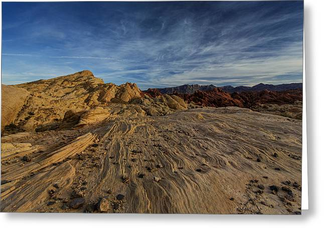 Nevada State Park Greeting Cards - Fire Canyon Rim Greeting Card by Rick Berk