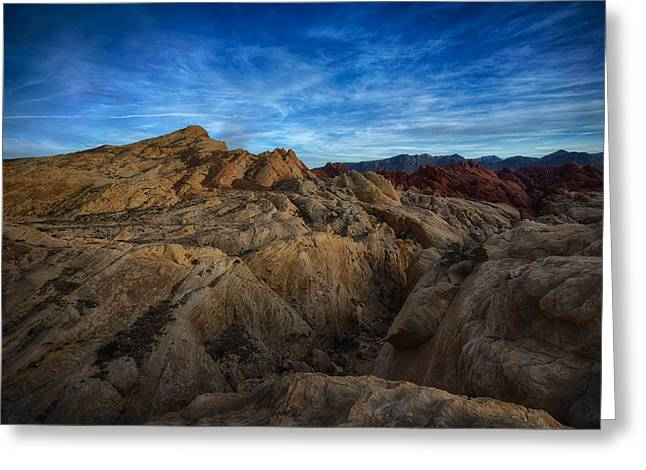 Nevada State Park Greeting Cards - Fire Canyon Twilight Greeting Card by Rick Berk