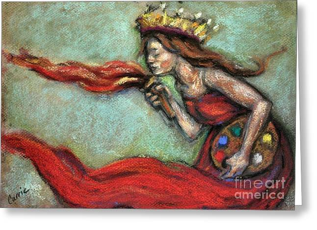 Carrie Joy Byrnes Greeting Cards - Fire Greeting Card by Carrie Joy Byrnes