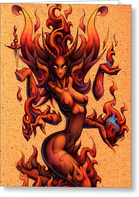 Fire Greeting Card by David Bollt