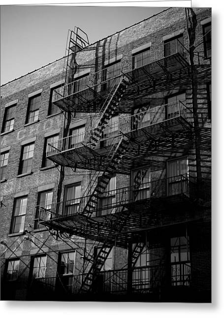 Darren Greeting Cards - Fire Escape 1 Greeting Card by Newyorkcitypics Bring your memories home