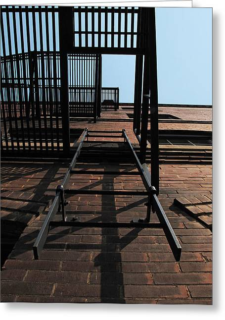 Sky Fire Greeting Cards - Fire Escape  Greeting Card by Don Spenner