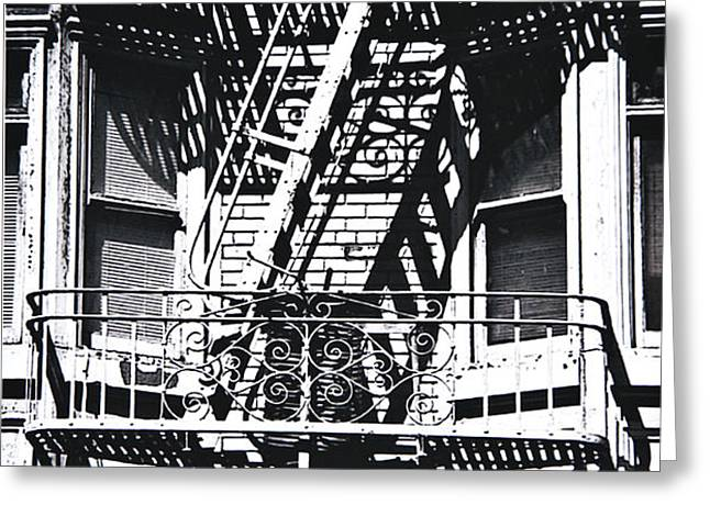 FIRE ESCAPE Greeting Card by Larry Butterworth