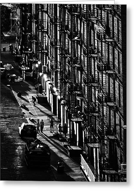 Chelsea Greeting Cards - Fire Escapes Greeting Card by Christian Heeb