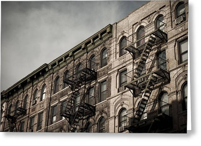Darren Greeting Cards - Fire Escapes Greeting Card by Newyorkcitypics Bring your memories home
