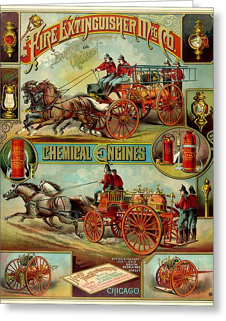 Antique Digital Greeting Cards - Fire Extinguisher Co Greeting Card by Gary Grayson