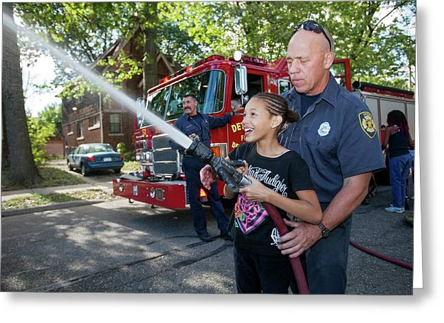Fire Fighting Educational Outreach Greeting Card by Jim West