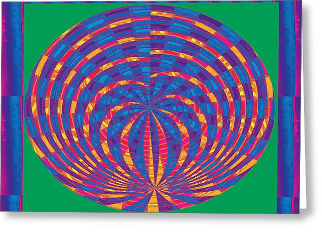 Fireworks Mixed Media Greeting Cards - Fire Flairs Fireworks Spiral Oval energy decorations  Unique Signature Art from NavinJoshi Original  Greeting Card by Navin Joshi