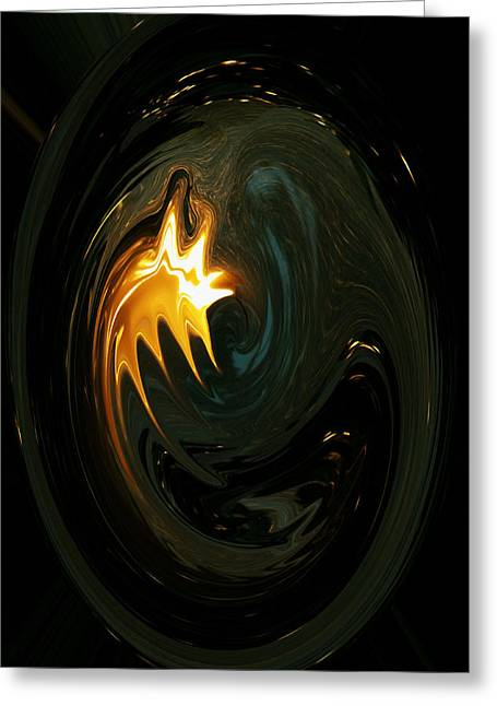 Fire From Above Greeting Card by Ella Char