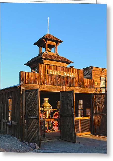 Yermo Greeting Cards - Fire Hall Calico Ghost Town Greeting Card by Michael Hope