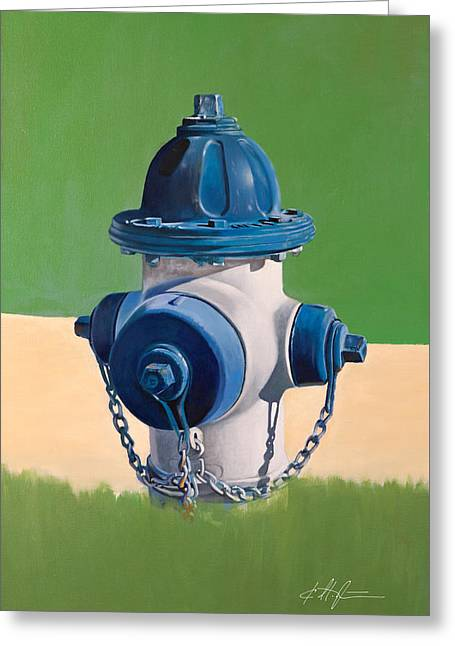 Hydrant Greeting Cards - Fire Hydrant Greeting Card by Karl Melton