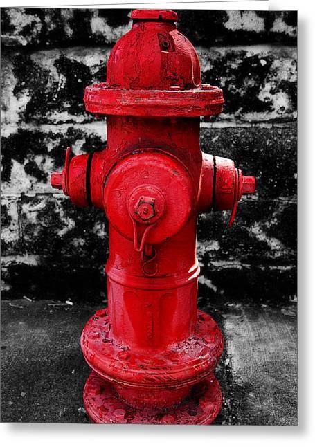 Florida Greeting Cards - Fire Hydrant Key West Florida Greeting Card by Mr Bennett Kent
