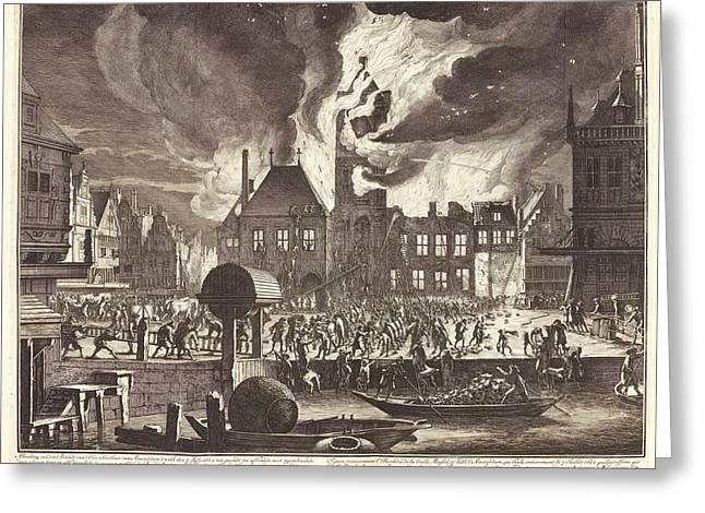 Fire In Amsterdam Greeting Card by Manuscripts And Archives Division/new York Public Library