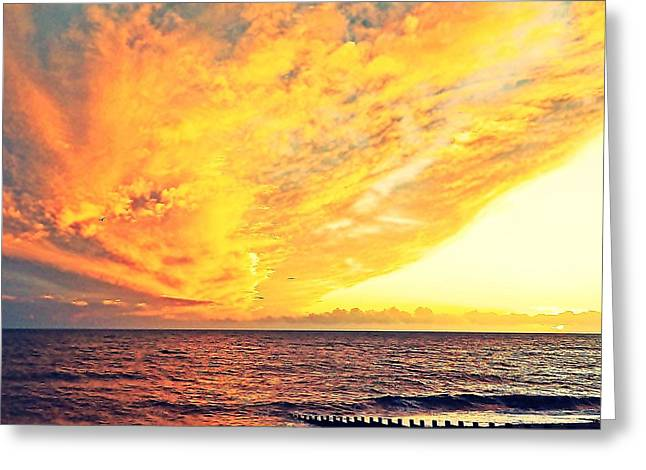 Amazing Sunset Greeting Cards - Fire in the heavens Greeting Card by Sharon Lisa Clarke