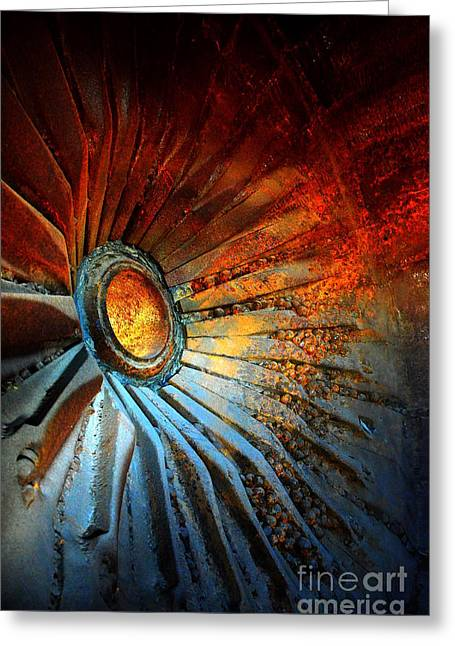 Processor Greeting Cards - Fire in the Hole Greeting Card by Newel Hunter