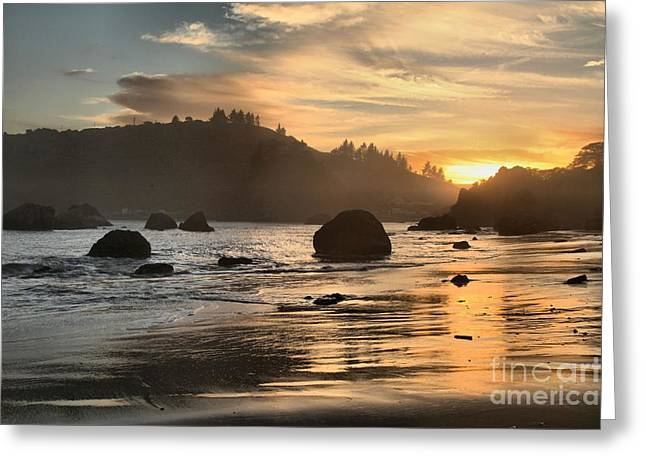 Fire In The Sand Greeting Card by Adam Jewell