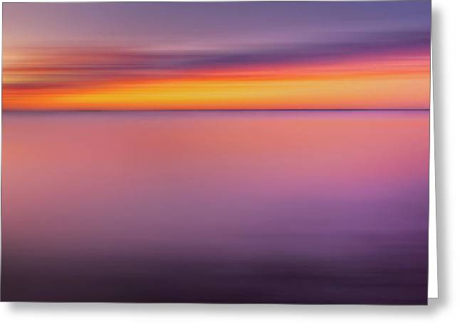 Soft Colour Greeting Cards - Fire In The Sky Greeting Card by Bill  Wakeley