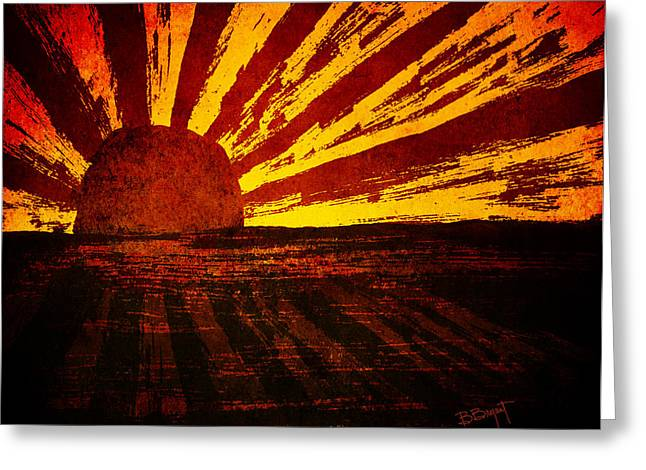 Brenda Bryant Photography Greeting Cards - Fire in the Sky Greeting Card by Brenda Bryant
