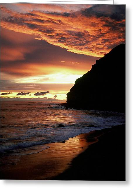 Face In Profile Greeting Cards - Fire in the Sky Greeting Card by Cliff Wassmann